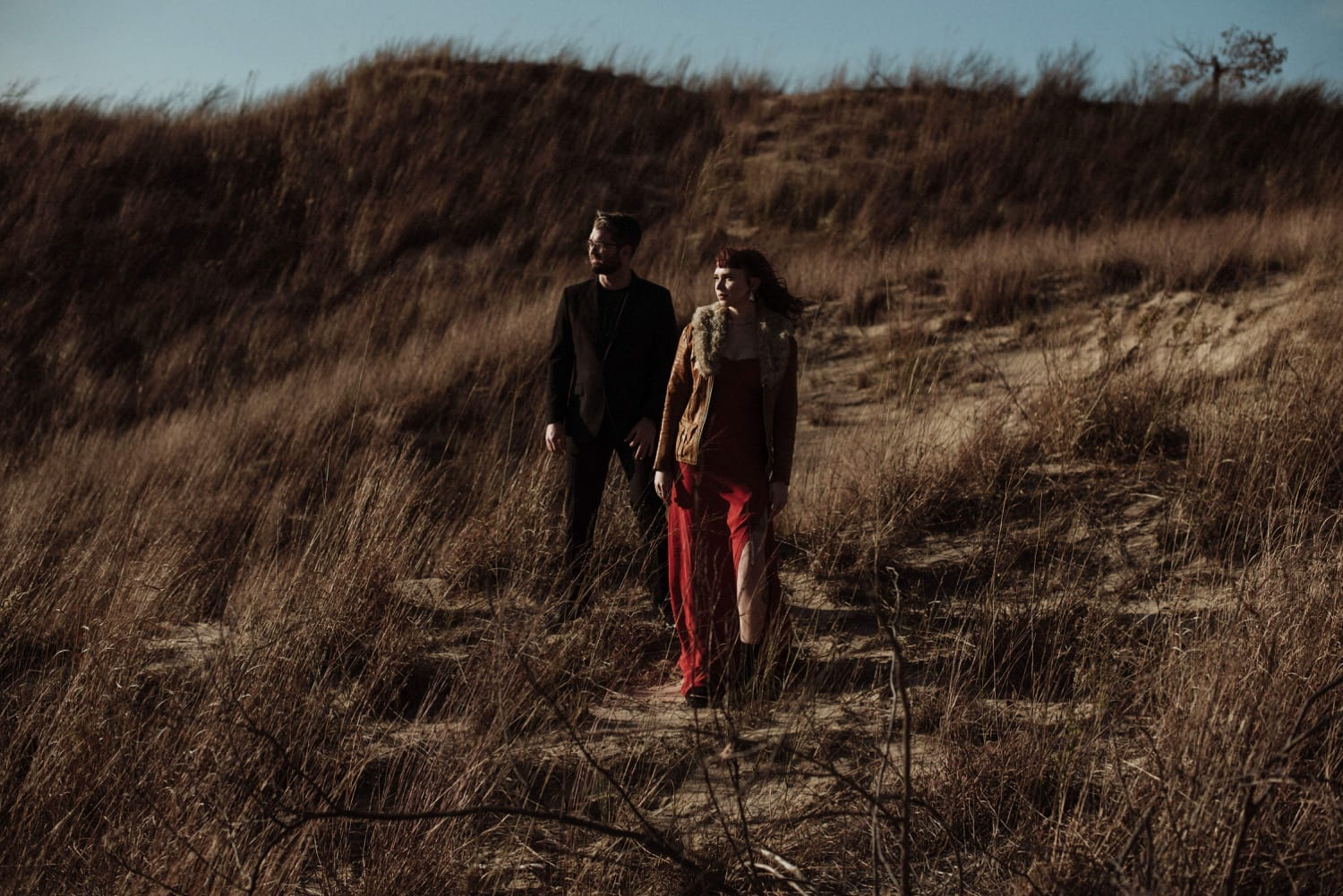 Indiana Dunes National Park Engagement Photography - Moody, Intimate, Fall Destination Engagement Photos